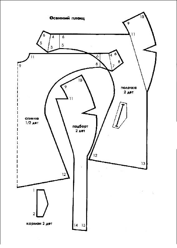 Выкройки одежды для кукол барби бесплатно, вязаная теплаятуника.