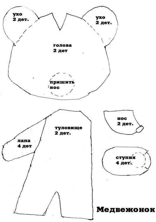 Костюм медведя своими руками с выкройками 83